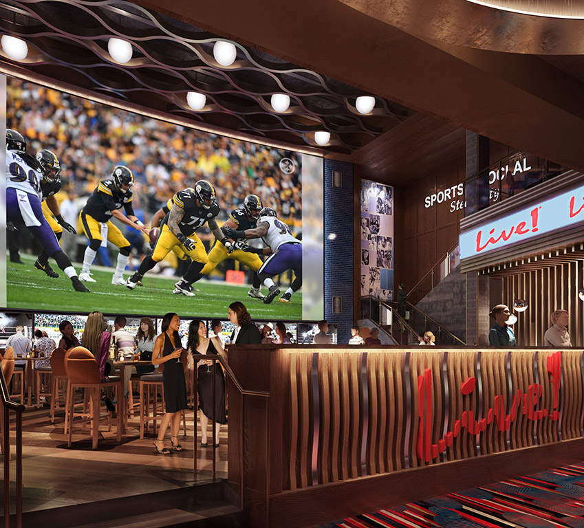 Live! Casino Pittsburgh Sports and Social Steel City